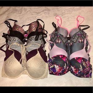 LOT OF 11 Victoria's Secret/ PINK bras USED 32D